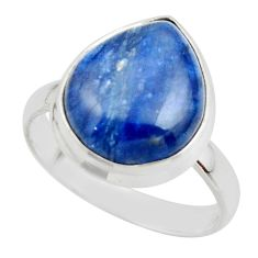 7.36cts natural blue kyanite 925 sterling silver ring jewelry size 8.5 r46738