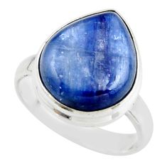 7.89cts natural blue kyanite 925 sterling silver ring jewelry size 6.5 r46773