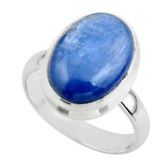 6.66cts natural blue kyanite 925 sterling silver ring jewelry size 6 r46731