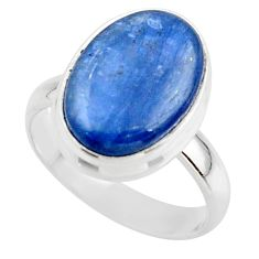 7.04cts natural blue kyanite 925 sterling silver ring jewelry size 6 r46735