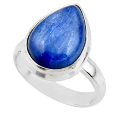 6.32cts natural blue kyanite 925 sterling silver ring jewelry size 6 r46770