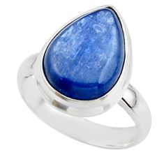 6.25cts natural blue kyanite 925 sterling silver ring jewelry size 6 r46774