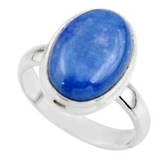 6.20cts natural blue kyanite 925 sterling silver ring jewelry size 7 r46775