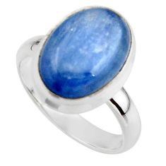 6.34cts natural blue kyanite 925 sterling silver ring jewelry size 7 r46777