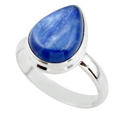 6.07cts natural blue kyanite 925 sterling silver ring jewelry size 8 r46722