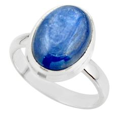 6.72cts natural blue kyanite 925 sterling silver ring jewelry size 8 r46732