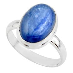 6.83cts natural blue kyanite 925 sterling silver ring jewelry size 9 r46730