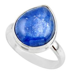7.83cts natural blue kyanite 925 sterling silver ring jewelry size 9 r46778