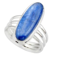 7.33cts natural blue kyanite 925 sterling silver solitaire ring size 8.5 r46887