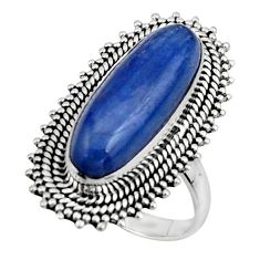6.51cts natural blue kyanite 925 sterling silver solitaire ring size 8.5 r47298