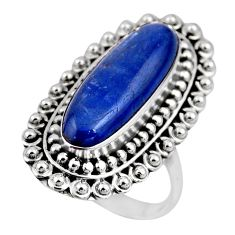 7.10cts natural blue kyanite 925 sterling silver solitaire ring size 8.5 r53754