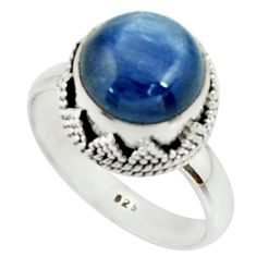 5.12cts natural blue kyanite 925 sterling silver solitaire ring size 8 r22003