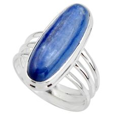7.53cts natural blue kyanite 925 sterling silver solitaire ring size 8 r46893