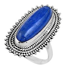 5.98cts natural blue kyanite 925 sterling silver solitaire ring size 8 r53757