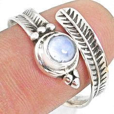 1.04cts natural blue labradorite 925 silver adjustable ring size 8.5 r68954