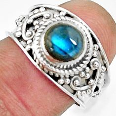 2.55cts natural blue labradorite 925 silver solitaire ring jewelry size 7 r22583