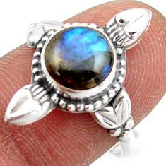 2.90cts natural blue labradorite 925 silver solitaire ring jewelry size 8 r41436