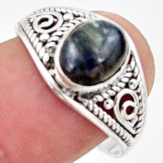 3.03cts natural blue labradorite 925 silver solitaire ring jewelry size 9 r35843