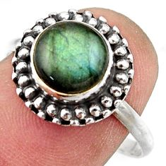 3.05cts natural blue labradorite 925 silver solitaire ring jewelry size 9 r41577