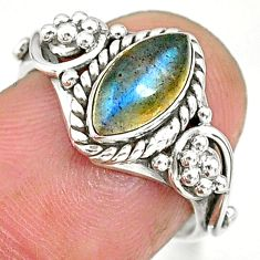 2.53cts natural blue labradorite 925 sterling silver ring jewelry size 6 r90050