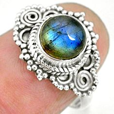 2.28cts natural blue labradorite 925 sterling silver ring jewelry size 6 r90263