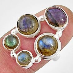 7.36cts natural blue labradorite 925 sterling silver ring jewelry size 7 r21156