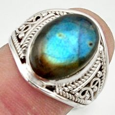 6.67cts natural blue labradorite 925 sterling silver ring jewelry size 7 r42800