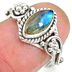 2.58cts natural blue labradorite 925 sterling silver ring jewelry size 7 r90049