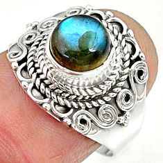 2.51cts natural blue labradorite 925 sterling silver ring jewelry size 7 r90266