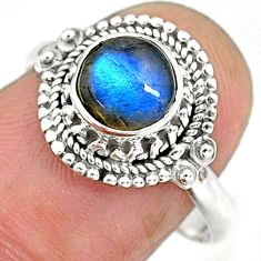 2.28cts natural blue labradorite 925 sterling silver ring jewelry size 8 r90262