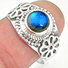 2.62cts natural blue labradorite 925 sterling silver ring jewelry size 8 r90273