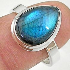 6.48cts natural blue labradorite 925 sterling silver ring jewelry size 8 t11039
