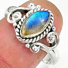 2.53cts natural blue labradorite 925 sterling silver ring jewelry size 9 r90053