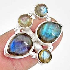 11.62cts natural blue labradorite pear 925 sterling silver ring size 6.5 r21143