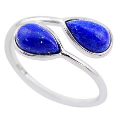 4.07cts natural blue lapis lazuli 925 sterling silver ring jewelry size 7 t1733