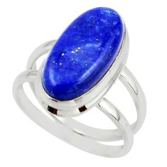 7.53cts natural blue lapis lazuli 925 sterling silver ring jewelry size 8 r42194