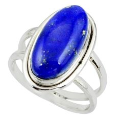 7.19cts natural blue lapis lazuli 925 sterling silver ring jewelry size 8 r42199