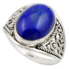 5.94cts natural blue lapis lazuli 925 sterling silver ring jewelry size 8 r42790