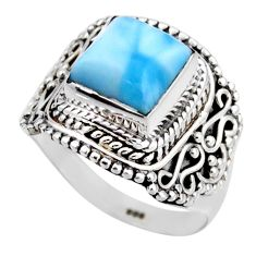 3.51cts natural blue larimar 925 silver solitaire ring jewelry size 6.5 r53559