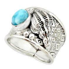 2.99cts natural blue larimar 925 silver solitaire ring jewelry size 8 r22407
