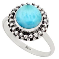 3.05cts natural blue larimar 925 silver solitaire ring jewelry size 8 r41446