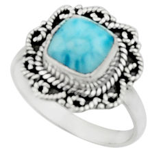 3.10cts natural blue larimar 925 silver solitaire ring jewelry size 8 r52425