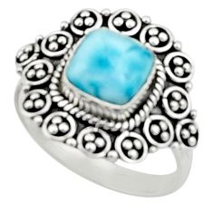 3.36cts natural blue larimar 925 silver solitaire ring jewelry size 8 r52440