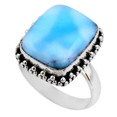7.88cts natural blue larimar 925 silver solitaire ring jewelry size 8 r53793