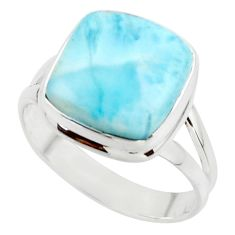 9.99cts natural blue larimar 925 sterling silver ring jewelry size 10 r43653