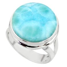 11.35cts natural blue larimar 925 sterling silver ring jewelry size 5 r43622