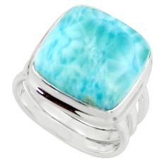 11.48cts natural blue larimar 925 sterling silver ring jewelry size 5 r43631