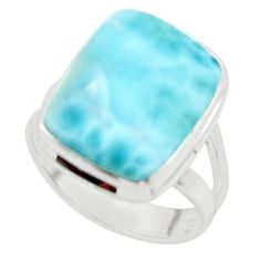 9.11cts natural blue larimar 925 sterling silver ring jewelry size 6 r43651