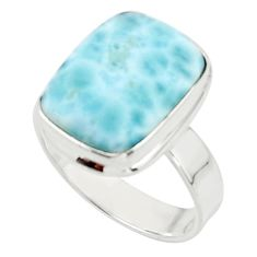 7.92cts natural blue larimar 925 sterling silver ring jewelry size 7 r44076