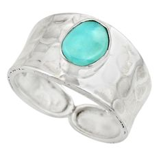2.12cts natural blue larimar 925 sterling silver ring jewelry size 7 r44264